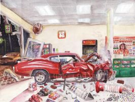 The Life Story Of A 1970 Chevy Chevelle (Part 12) by FastLaneIllustration