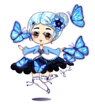 OC: Isabell and butterflies by OginZ