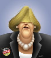 Angela Merkel by BenHeine