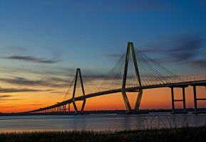 Ravenel Bridge at Sunset by Carise