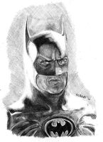 Batman Sketch- Michael Keaton by rcrosby93