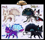 Foxfan Halloween 2.2 batch / 4/4 CLOSED! by Belliko-art
