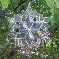 Stained Glass Snowflake 1 by CeltCraft
