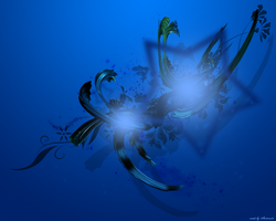 Blue Vector C4D Wallpaper by In50mni4