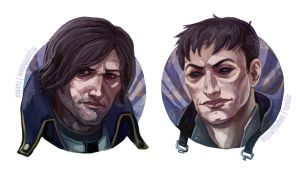 Corvo and Outsider Portraits by vonvelvet