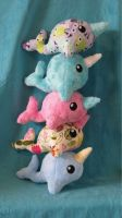 Tower O' Narwhals 2 by WhimzicalWhizkerz