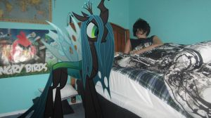 Queen Chrysalis wakes me up by MetalGriffen69