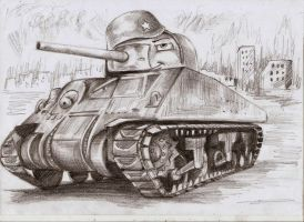Sherman The Victor by Ikarus-001