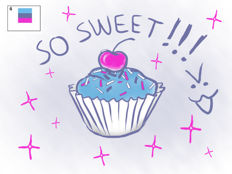 Palette Challenge Day 4: Cupcake! by omhira