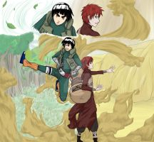 Naruto: Sand And Leaves by dragonfly92