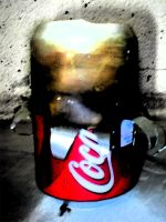 Half a coke can by swineandroses