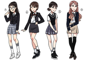 [CLOSED] Cheap School Uniform Adopts by Hyeoii