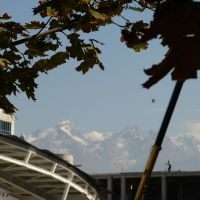 Almaty with mountains by andersvolker