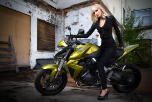 Biker Girl - CB1000R by KaylaDavion