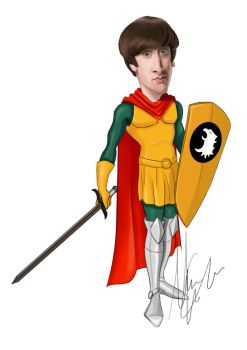 Wolowitz Big Bang Theory version Dungeons and Drag by MMCilustration