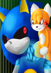 Metal sonic and Tails Doll by R-redbob