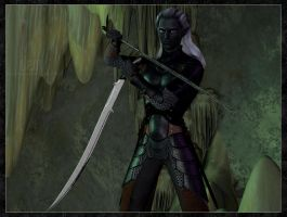 Drizzt Do'Urden :: Underdark by DrowElfMorwen