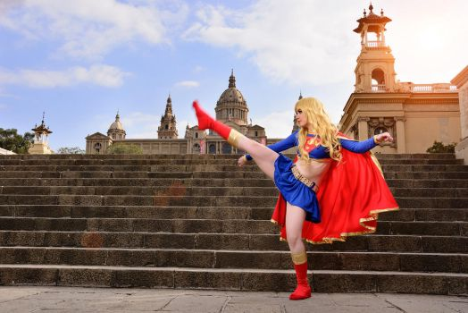 Super Girl kick by AliciaMigueles