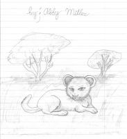 baby lioness by baxby