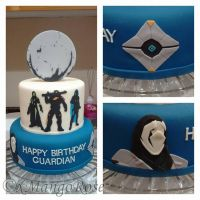 Destiny Themed Birthday Cake by xMangoRose