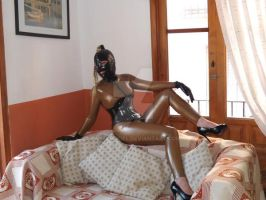 Relaxing on the Sofa by LatexModel