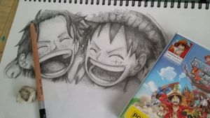 Ace and Luffy by ShinyGazza