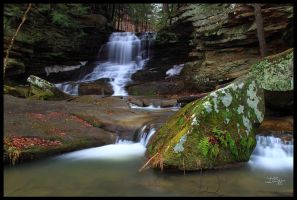 Honey Run Waterfall 11 by TerryTee