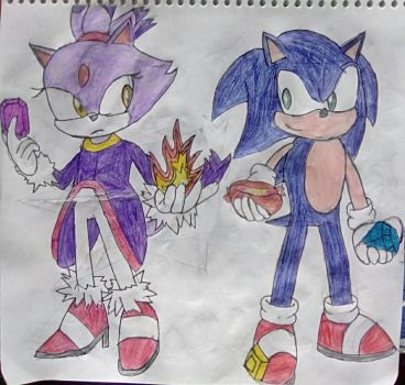 Blaze and Sonic by TheOneAndOnlyCactus