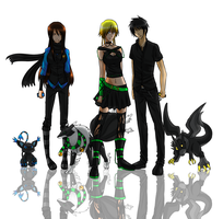 Digimon Team - BlackNeon by GazeRei