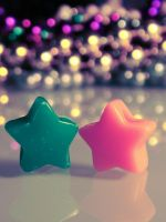 Two Little Stars by Birthstone