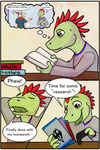 Aww Feathers! Guest Comic Page1 by Kazulgfox