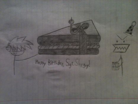 Sgt.Shyguy's birthday present by Ginggalflarb