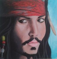 Portait of Jack Sparrow by michelleable
