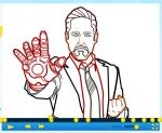 How to draw Robert Downey Jr. of Iron Man Part 2 by SketchHeroes