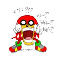 Knuckles reaction by theEyZmaster