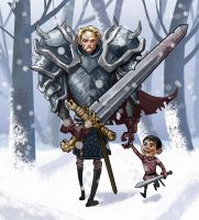 Brienne of Tarth by Ilustrandole