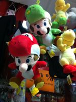 Mario bros Yoshi suits plushie by ZeFrenchM