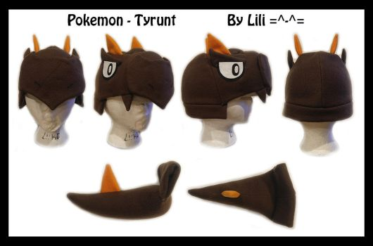 6th Gen - Tyrunt Hat and Tail by LiliNeko
