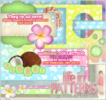 ALOHA collection scrapbook kit by NicoleHerskowicz