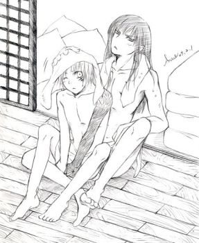 Kanda and Allen after bath? by souki24