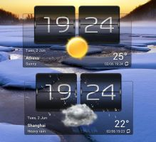 Accuweather HTC2 Black for xwidget by jimking