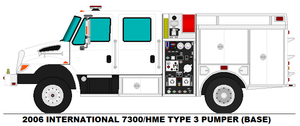 International 7300 HME Type 3 pumper base by MisterPSYCHOPATH3001