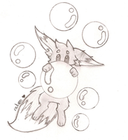 Doodle : Eevee w/ some bubbles by LittlePineapples