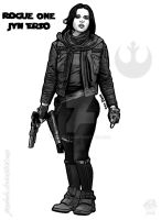 Rogue One Jyn Erso by JUMBOLA