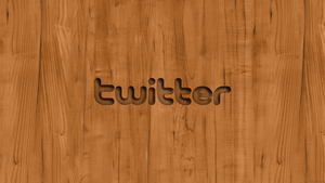 Twitter Logo Wood Wallpaper by TomEFC98