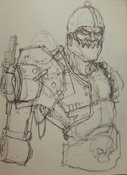 TrapJaw sketch by bainillustration