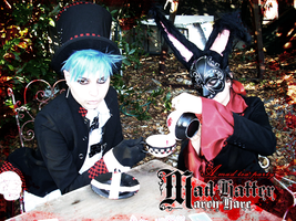 Mad Hatter and March Hare by pnkfish