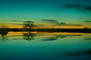 Sunset - Cokin Fishing Lakes 2 by murkin