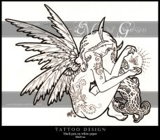 'Art Nouveau' Fairy tattoo by mcr-raven