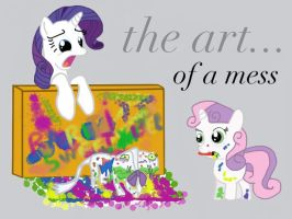 rarity, the art of a mess by Coltsteelstallion